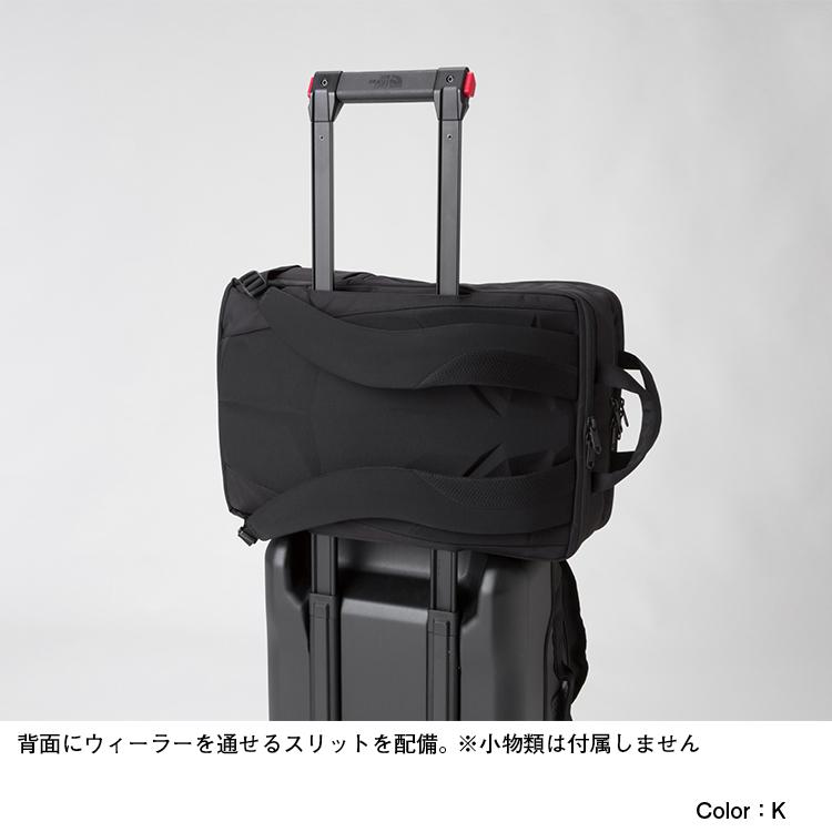 ノースフェイス シャトル デイパックはスーツケースに取り付けることが出来る