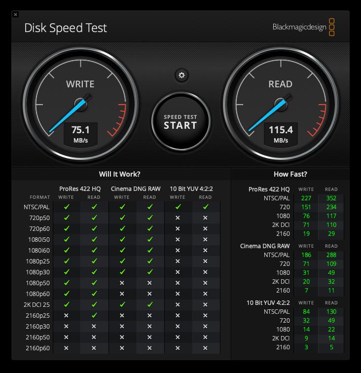 以前のケース2 oricoHDDケース速度