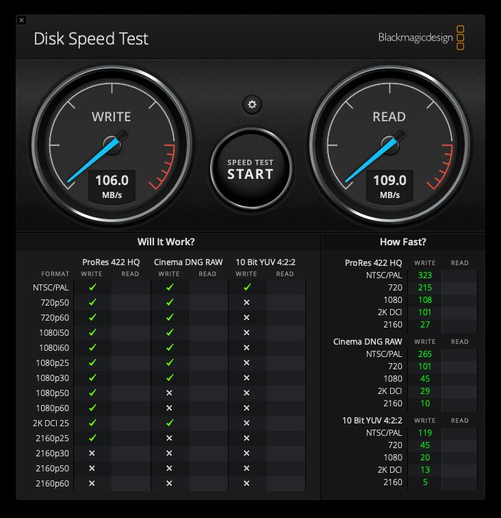ハードディスク2 inateck速度