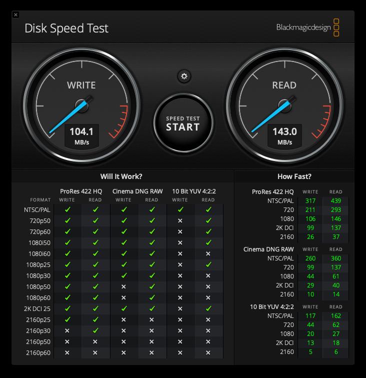 ハードディスク1 inateck 速度