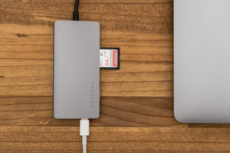Satechi V2 マルチ USB Type-Cハブ USB-Cポートとカードリーダー